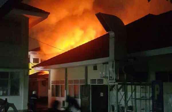 kebakaran ruangan farmasi rsud