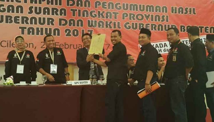 rapat pleno rekapitulasi pilkada Banten