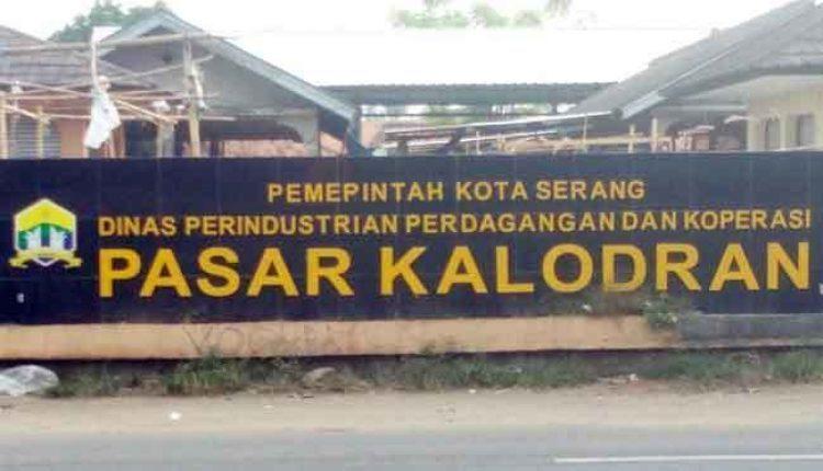 perbaikan pasar kalodran Serang