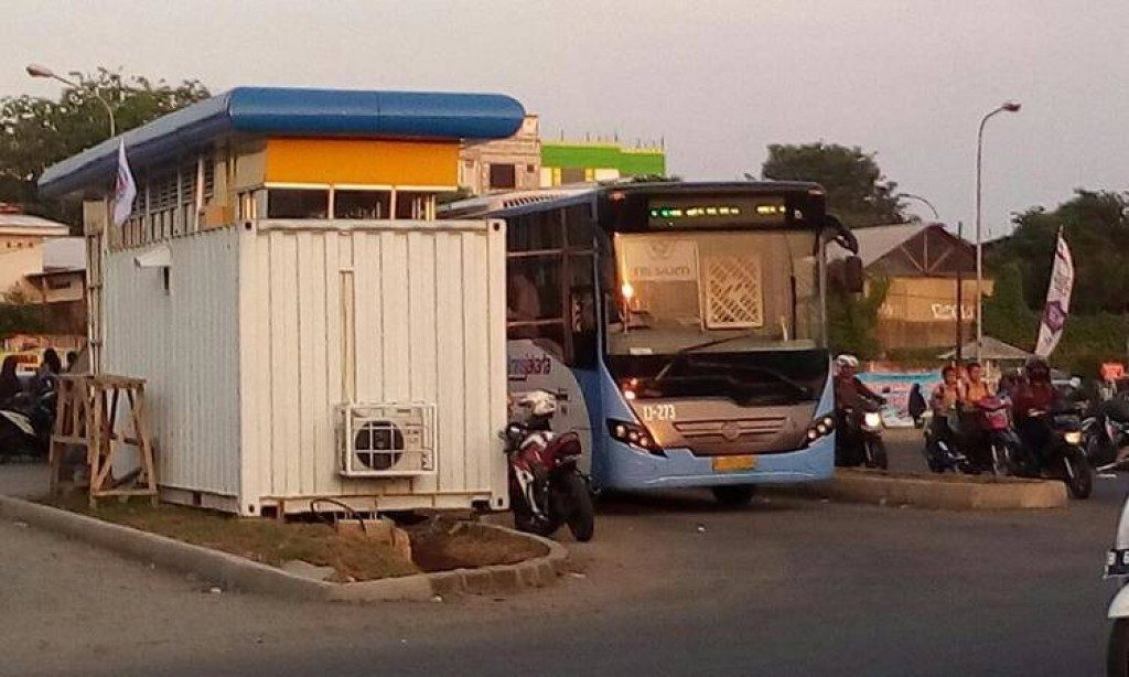 Halte Puri Beta, Transjakarta Tunggu signal Pemkot Tangerang